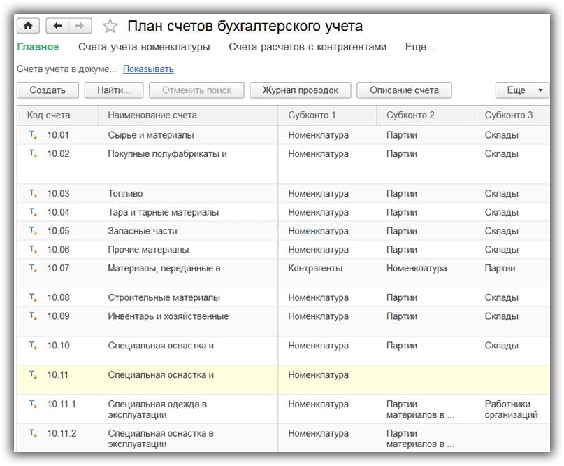 Учет материалов в 1С 8.3 Бухгалтерия 3.0