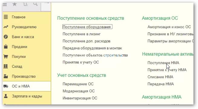 Нематериальные активы в 1С 8.3 Бухгалтерия 3.0: поступление, принятие к учету, списание, передача
