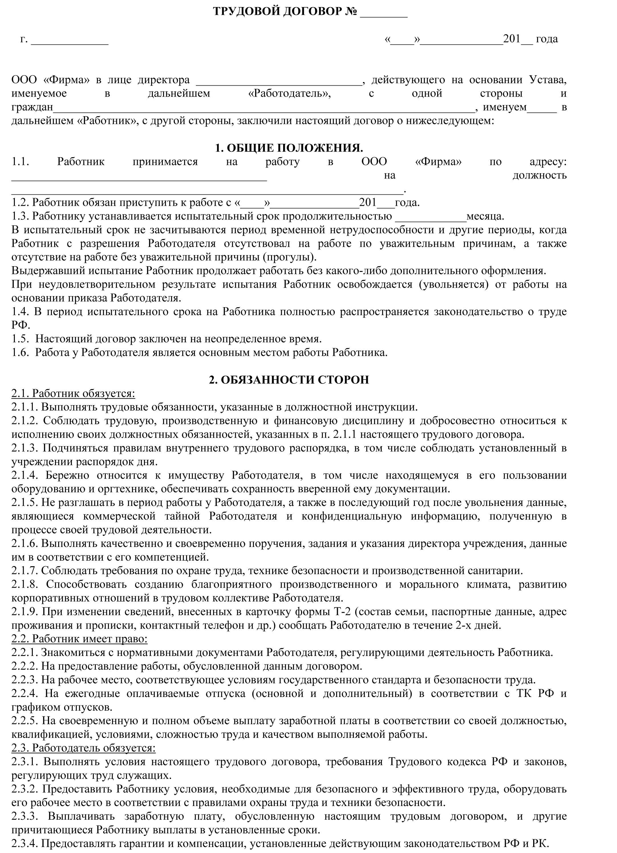 6.-Бланк-трудового-договора-с-испытательным-сроком---стр1