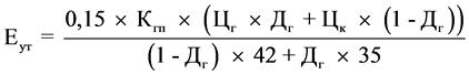 НК РФ Статья 342.4. Порядок расчета базового значения единицы условного топлива (Еут), коэффициента, характеризующего степень сложности добычи газа горючего природного и (или) газового конденсата из залежи углеводородного сырья (Кс), и показателя