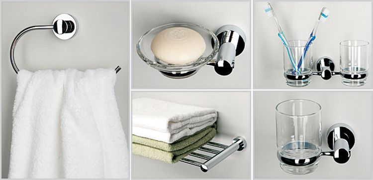 Большой выбор качественных аксессуаров для ванной комнаты и туалета
