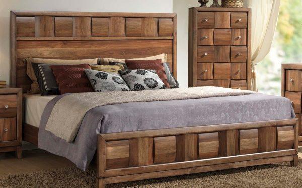 Красивые мебельные гарнитуры для спальни из массива цельной древесины